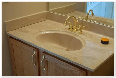 One Piece Bathroom Sink And Countertop Sinks And Faucets