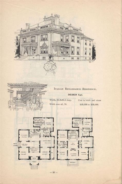 house plans historic romanesque mansion historic house plans ebay