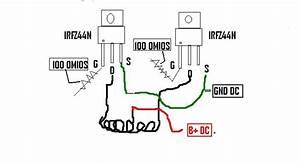 Conversor Con 6 Mosfet Irfz44n Diagrama
