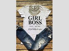 Girl Boss TShirt Without Necklace Fairyseason