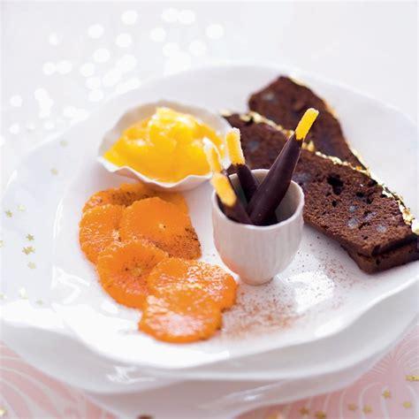 idee assiette gourmande dessert recette dessert chocolat agrumes