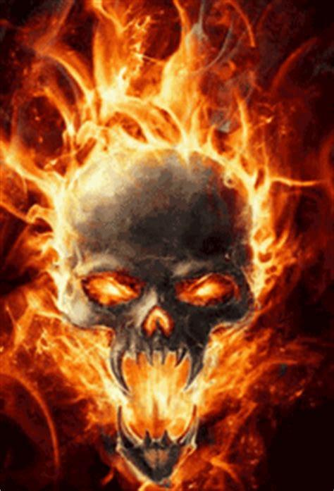 fire skulls animated gifs gifmania