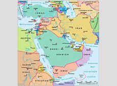 Asien Länder Und Hauptstädte Lernen Karte