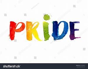 Pride Rainbow Word Isolated On White Stock Illustration ...