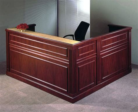 Traditional Reception Desk by Arnold Reception Desks Inc Traditional Reception Desk