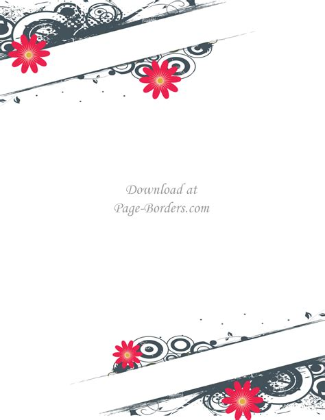 Border Background Images by Free Flower Border Template