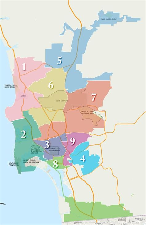 san diego l district 106 best info maps images on cards maps and