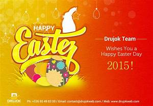 The Drujok team wishes you a Happy Easter Day 2015!