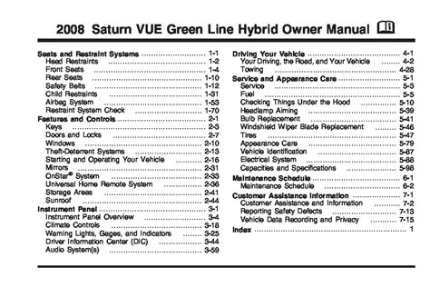 saturn vue hybrid owners manual  give