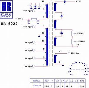 Line Output Transformer    Flyback  Hr6024  Hr 6024