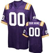 LSU Tigers Style Customizable Football Jersey with Sewn On ...