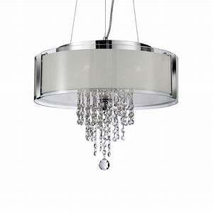 Decorative crystal glass pendant light chrome with