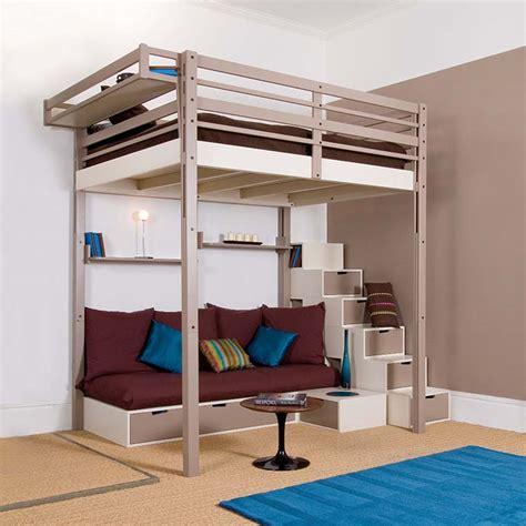lit mezzanine 1 place bureau integre lits mezzanines espace loggia