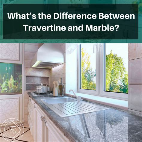 what s the difference between travertine and marble