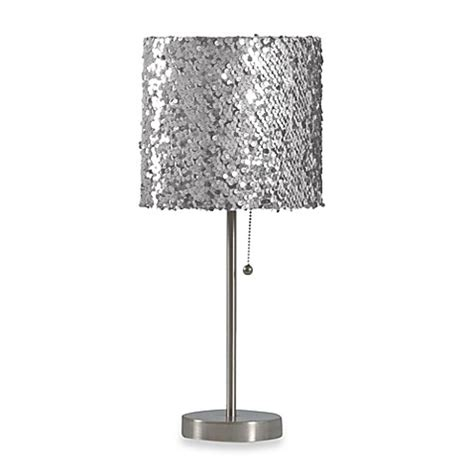 silver sequin l shade buy silver sequin table l from bed bath beyond