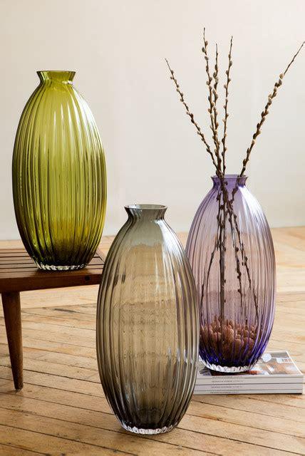 handmade glass ribbed vases dynasty gallery