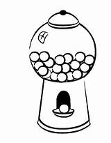 Gumball Machine Coloring Gum Bubble Template Drawing Printable Draw Getcolorings Getdrawings Empty Drawings Clipartmag Paintingvalley Colorings sketch template