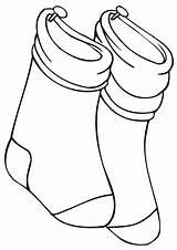 Socks Coloring Pages sketch template