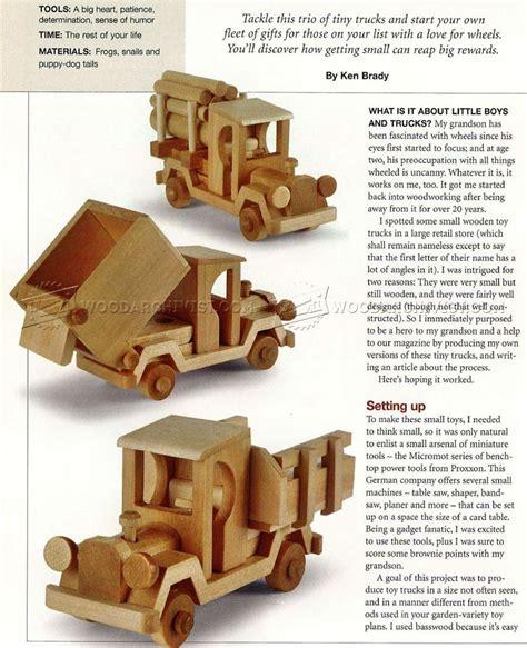 wooden toy truck plans woodarchivist