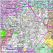 Editable Santa Ana, CA Map with Roads, Highways & Zip ...