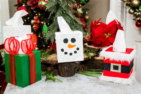 diy christmas tissue boxes home family hallmark channel