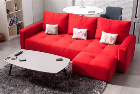 sofa chaiselongue rojo imagenes  fotos