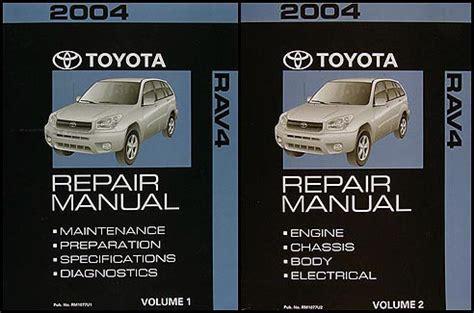 what is the best auto repair manual 2004 chrysler 300m electronic throttle control 2004 toyota rav4 repair shop manual 2 volume set original