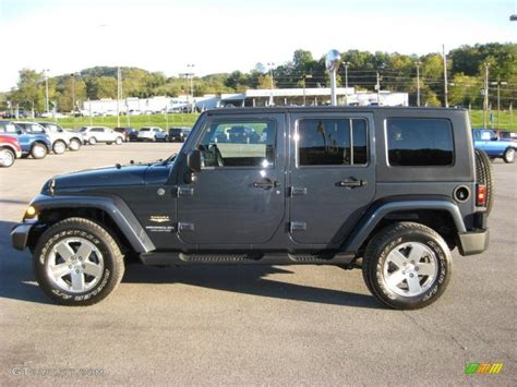 jeep dark gray 2008 steel blue metallic jeep wrangler unlimited sahara