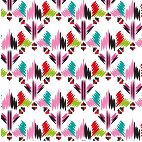 Abstract Shapes Free Vector by Colorful Abstract Shapes Fabric Pattern Vector Free