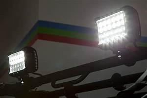 Quot quad row off road led light bar w flood