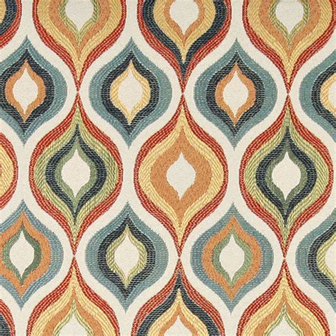 Blue And Orange Upholstery Fabric by Green Blue Orange And Gold Contemporary Upholstery