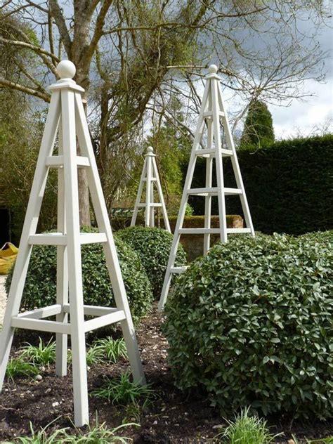 astounding garden obelisks manificent design wooden