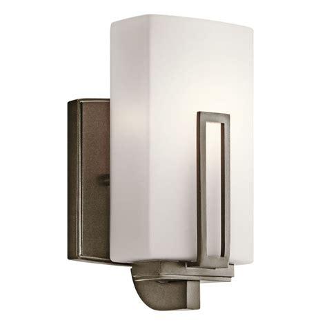 kichler 45224swz shadow bronze 1 light up light wall