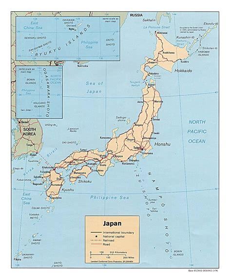 Ģeogrāfiskā karte - Japāna - 1,080 x 1,312 Pikselis - 225 ...