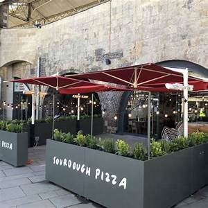 Large Umbrellas For Busy Restaurant