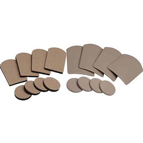 Furniture Sliders For Wood Floors Walmart by Shepherd 9045 16 Count Assorted Furniture Glides And