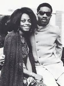 Diana Ross and Stevie Wonder