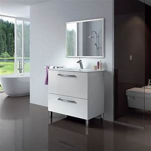 urban ensemble salle de bain simple vasque l 80 cm avec With meuble salle de bain simple vasque 80 cm