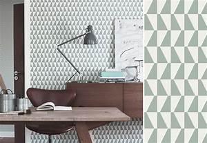papiers peints geometriques pour un bureau blog au fil With couleur pour un salon 2 papiers peints pour une chambre scandinave blog au fil