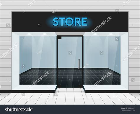 store template shop front store front view vector stock vector 522256975