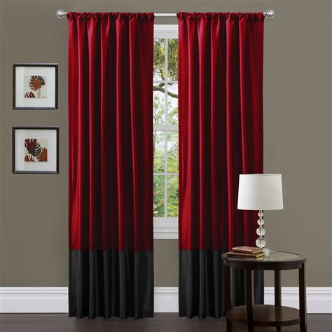 Choose Black And Red Curtains For Living Room