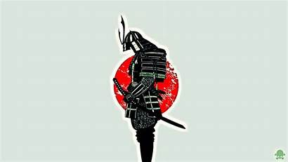 Samurai Japan Flag Minimalism Japanese Wallpapers Background
