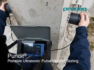Pundit Portable Ultrasonic Pulse Velocity Testing
