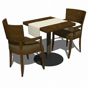 Restaurant dining set 3d model formfonts 3d models for Restaurant dining tables