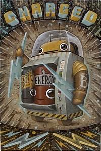121 best ☮ Art ~ Retro Robot images on Pinterest | Robot ...