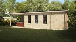 Gartenhaus Mit Schuppen : gartenhaus mit terrasse und schuppen super eva e 18 m2 9 ~ Michelbontemps.com Haus und Dekorationen