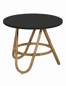 Table Basse Rotin : table basse en rotin naturel et plateau noir diabolo ~ Teatrodelosmanantiales.com Idées de Décoration