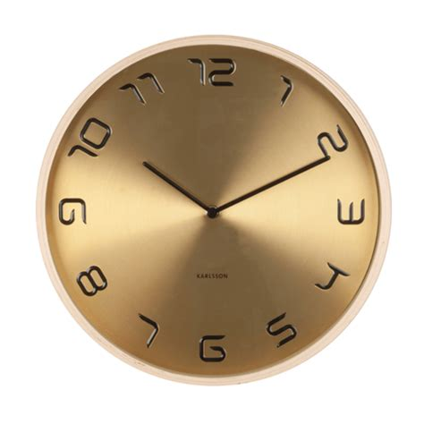 Keep track of anything with klok's simple work timer and visual display of how your days fill up. Gouden klok Bent Wood - Designaccessoires
