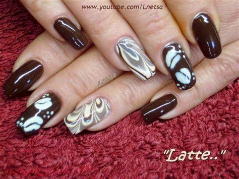 latte coffee inspired nailart nail art gallery