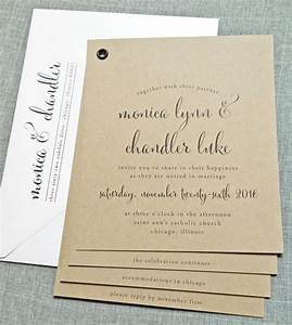 monica kraft booklet wedding invitation sample black With wedding invitation photo booklet